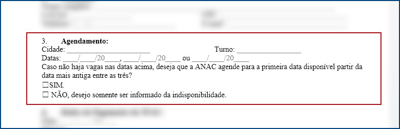 agendar prova da anac - aero td