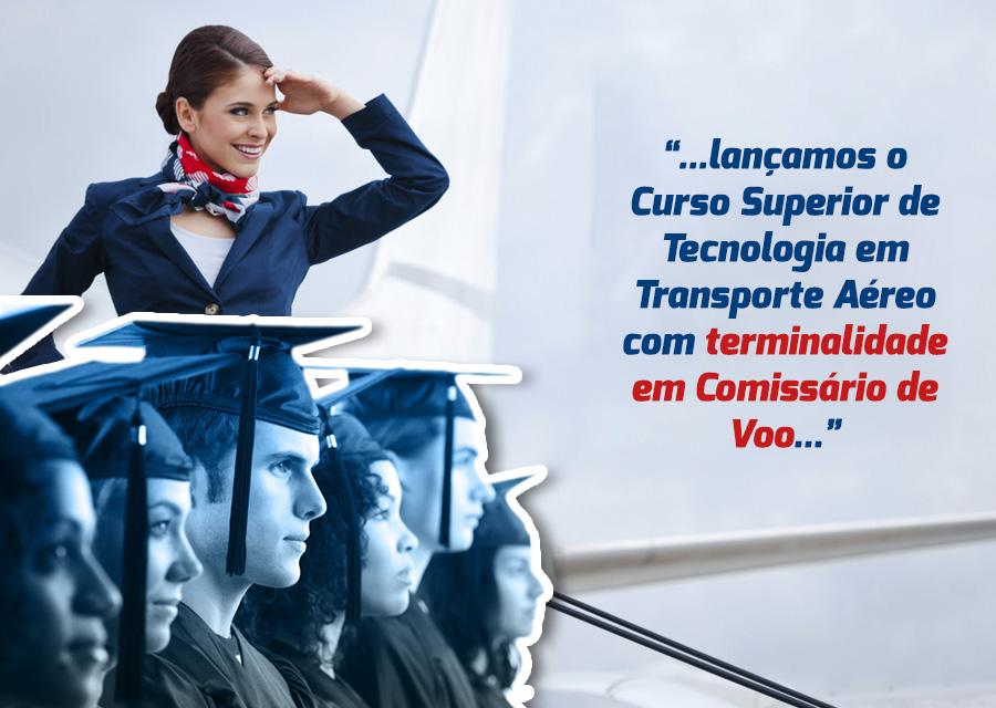 curso superior de tecnologia em transporte aéreo com terminalidade em comissário de voo