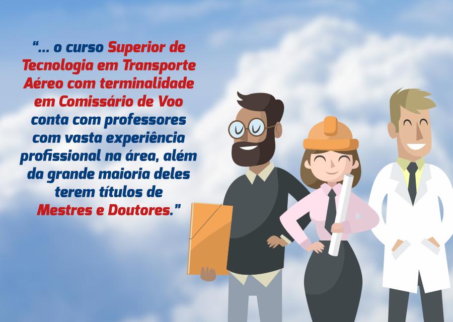 curso superior de tecnologia em transporte aéreo corpo docente de mestres e doutores