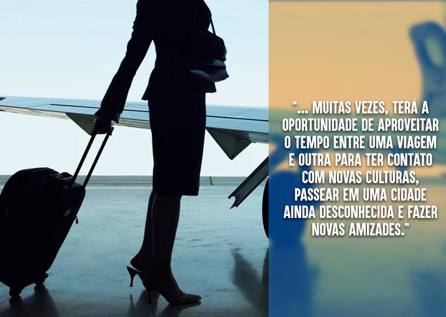Conheça o mundo e conquiste sua independência - benefícios da carreira de comissário de voo