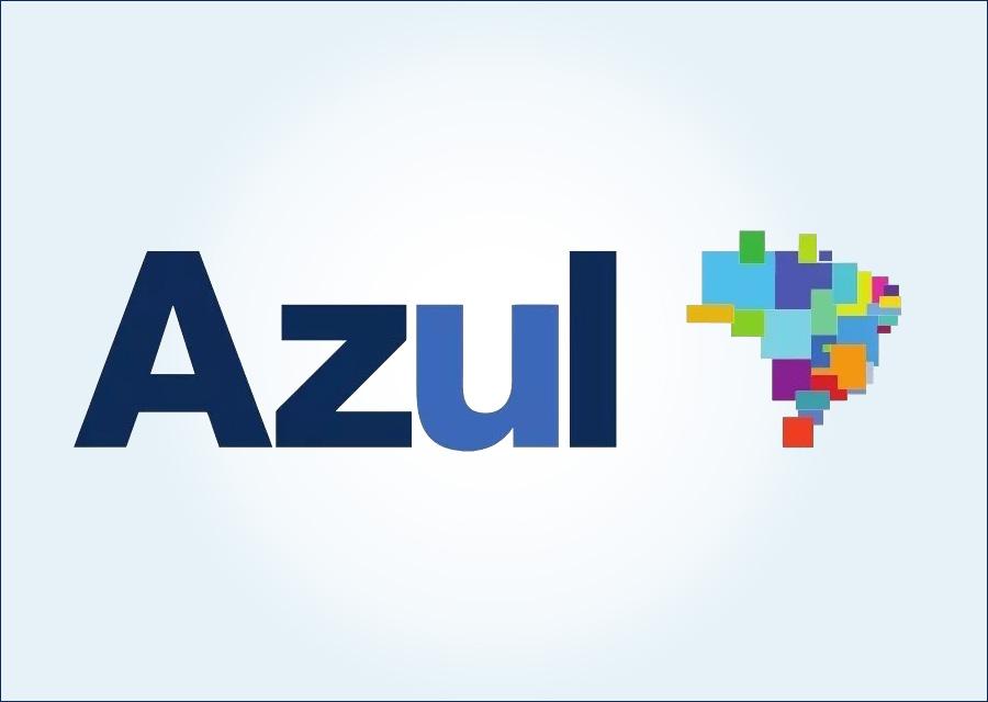 logotipo azul linhas aereas