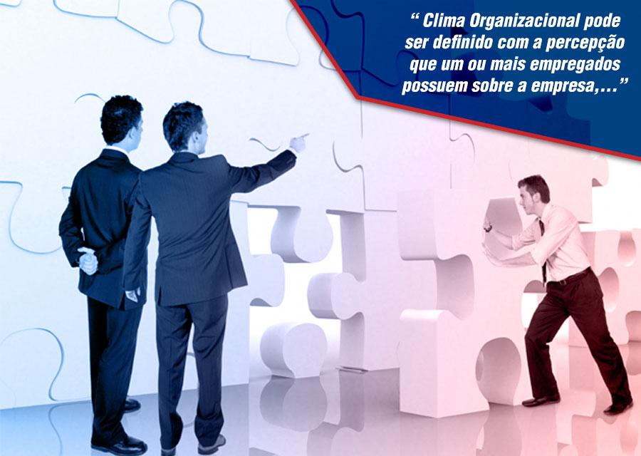 o clima organizacional