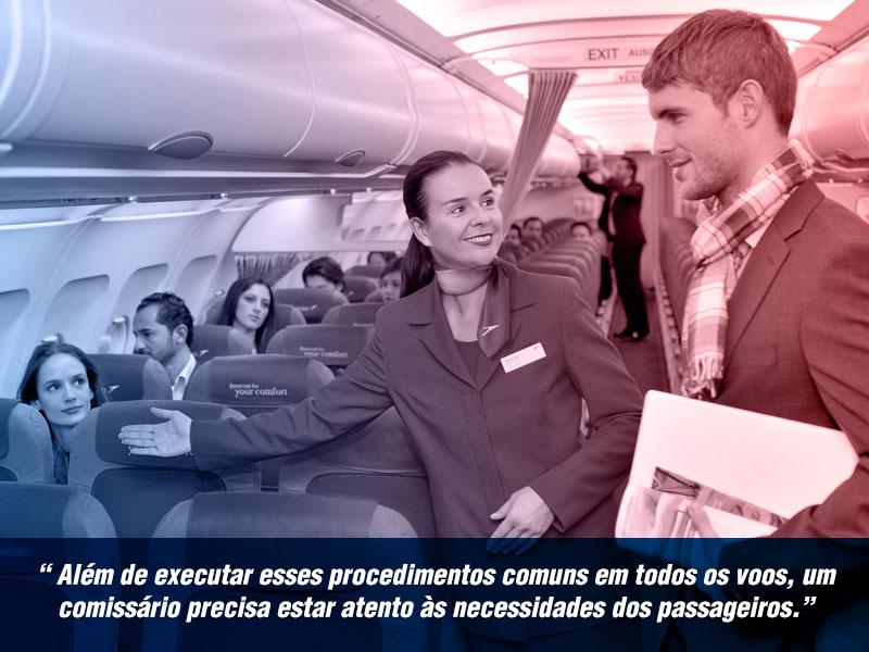 comissaria de voo auxiliando passageiro em aeronave