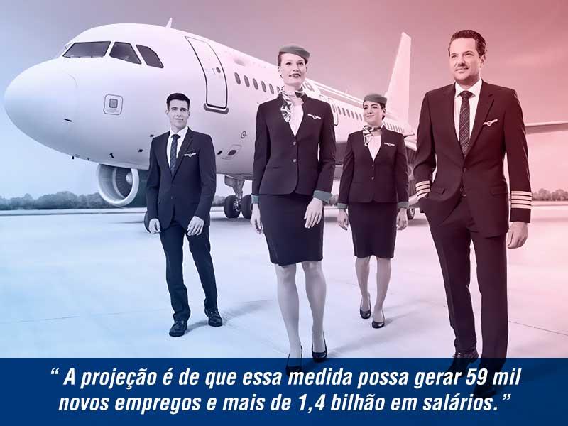 novos salarios para aviacao