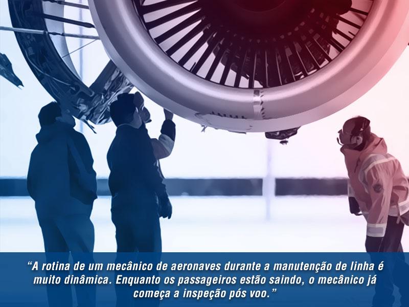 rotina de um mecanico de aeronaves