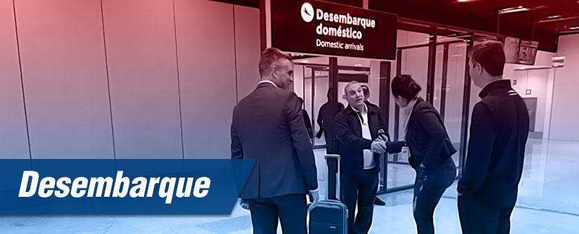 desembarque de passageiros em aeroportos