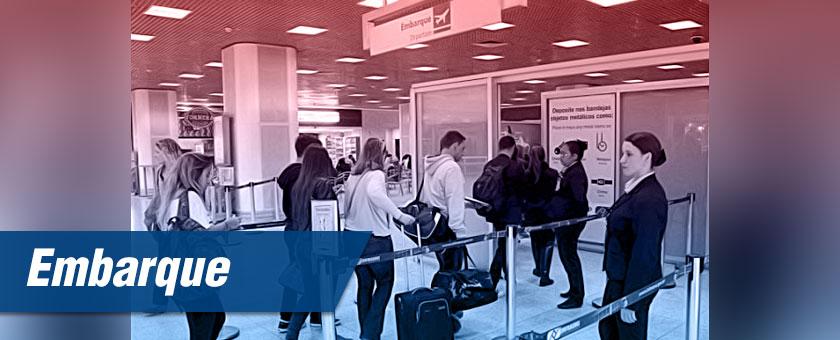 embarque de passageiros em aeroportos