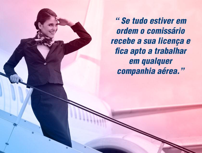 licença comissario de voo