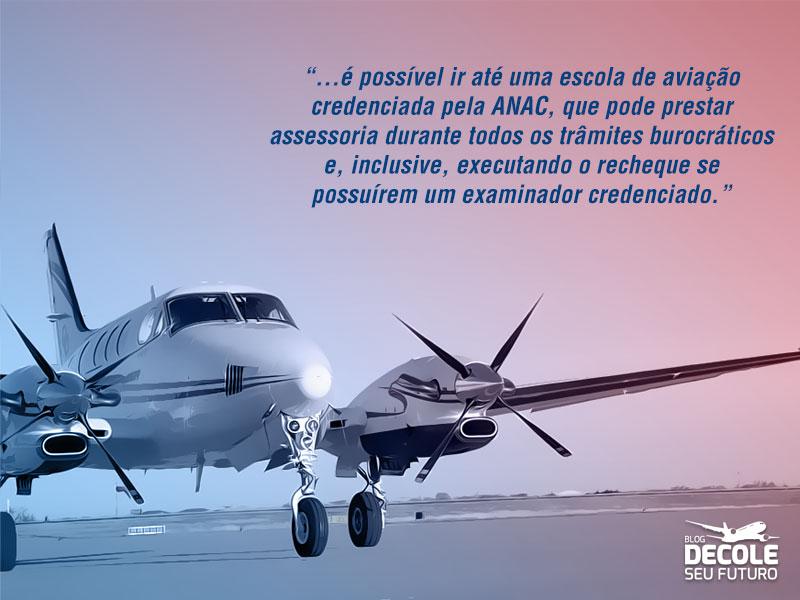renovação da carteira de piloto privado