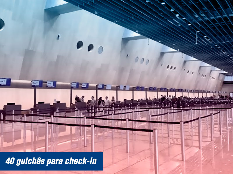 40 Guichês de check-in no Floripa Airport