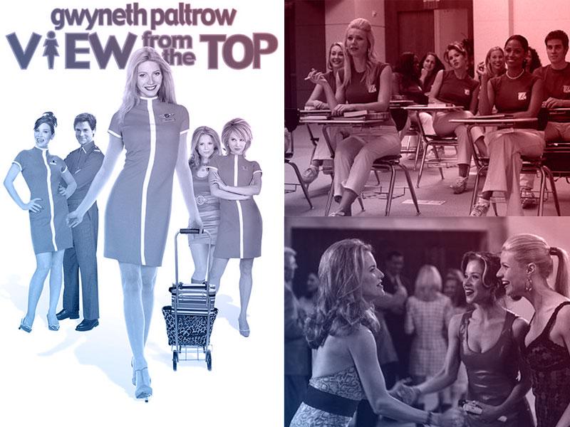 Capa do filme Voando Alto com a atriz Gwyneth Paltrow e ao ldo print de tela do filme