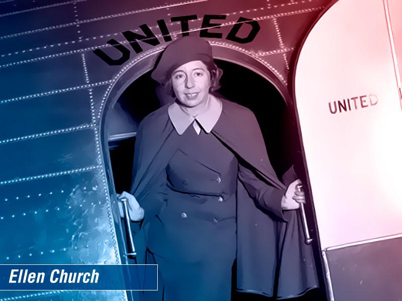 Ellen Church primeira comissário de voo