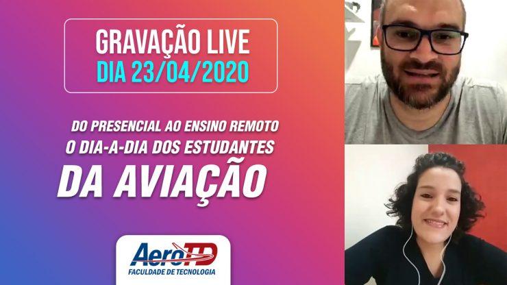 capa gravação live dia 23 de abril 2020 aerotd