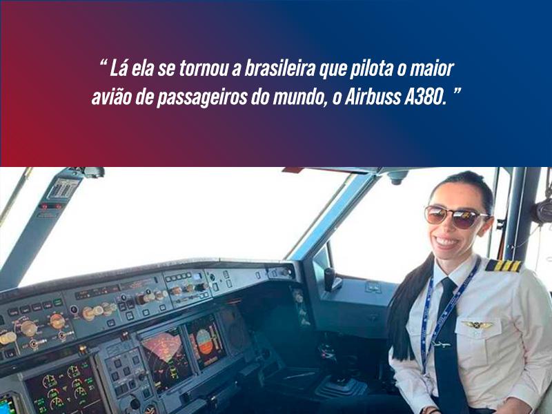 Aline Borguetti Pilota A380