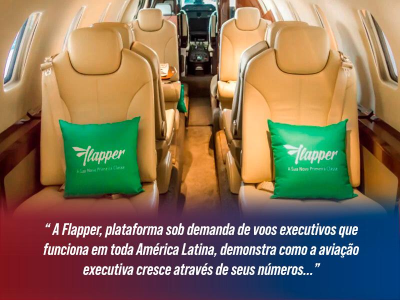 Flapper plataforma sob demanda de voos executivos